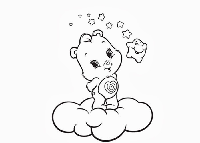 baby care bears coloring pages - photo #5