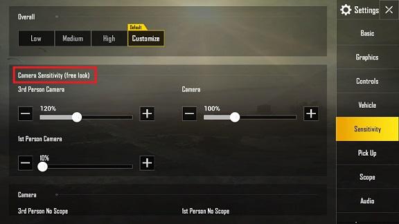 Cara Setting Sensitivitas Terbaik di Game PUBG Mobile