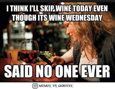 Wednesday say no one ever
