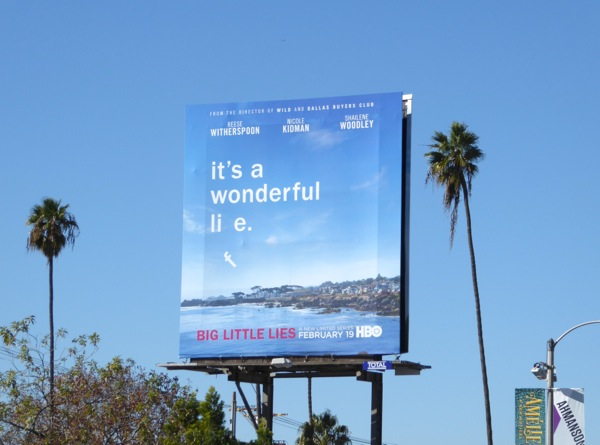 Little Big Lie series premiere billboard