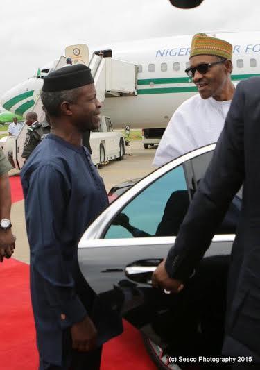 buhari returns nigeria cameroon