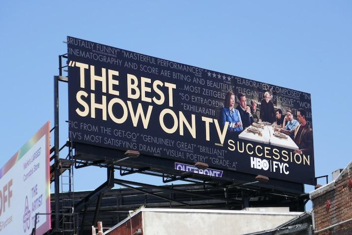 Succession 2020 Emmy FYC billboard