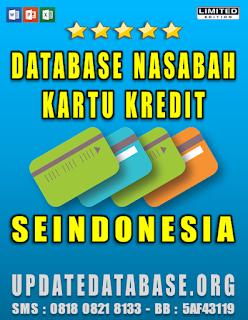 Jual Database Nasabah Kartu Kredit Seindonesia