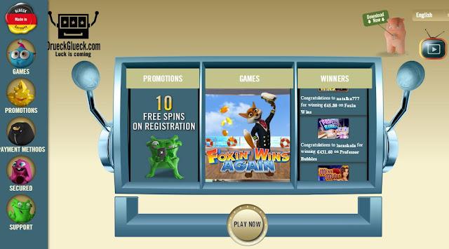 DrueckGlueck Casino Homepage