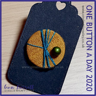 One Button a Day 2020 by Gina Barrett - Day 154 : Solitary