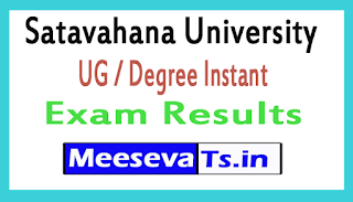 Satavahana University UG / Degree Instant Exam Results