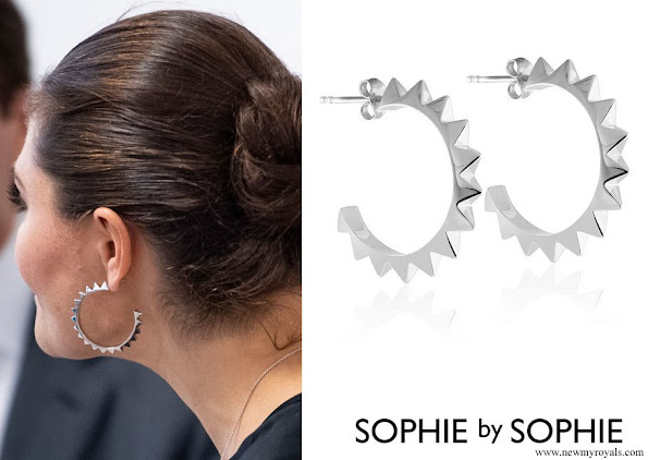 Crown Princess Victoria wore Sophie by Sophie Pyramid hoops