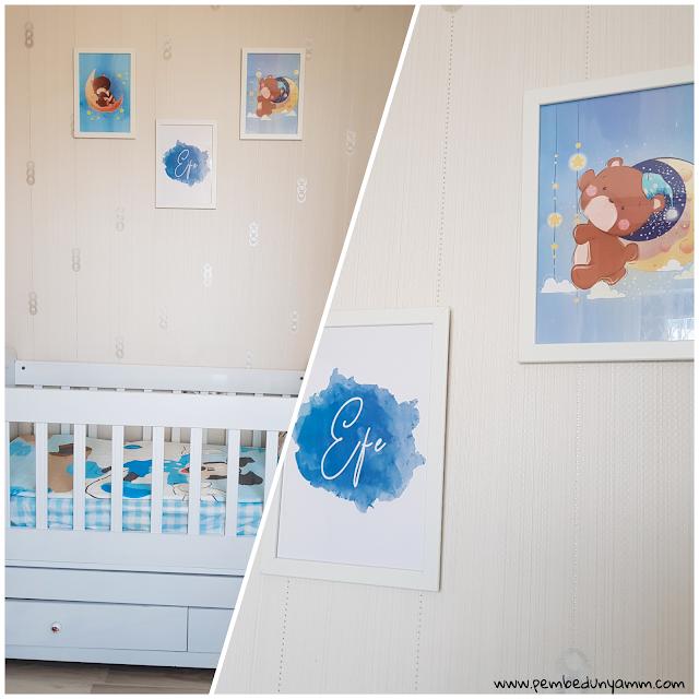 Bebek odası tasarım çerçeveler