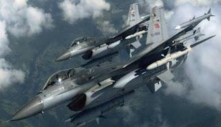 Jet-Jet Turki Mata-Matai Posisi Tentara Rezim Syiah Nushairiyah Di Suriah Barat Laut