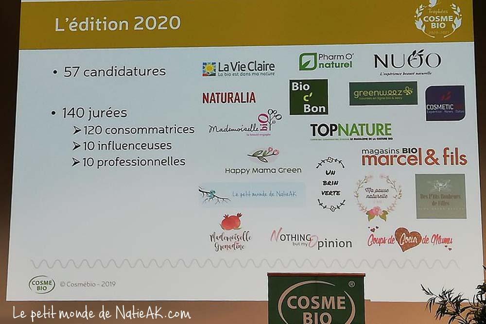 Les 140 jurys des Trophées Cosmébio 2020-2021