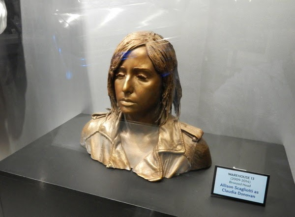 Warehouse 13 Bronzed Claudia Donovan head prop