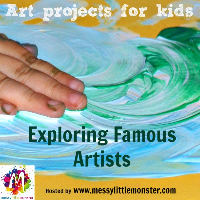 Exploring famous artists.  Art projects for kids.