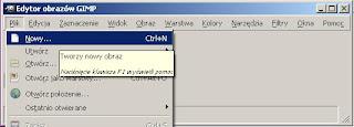 Plik -> Nowy, Jak Zrobić Plakat w GIMPie