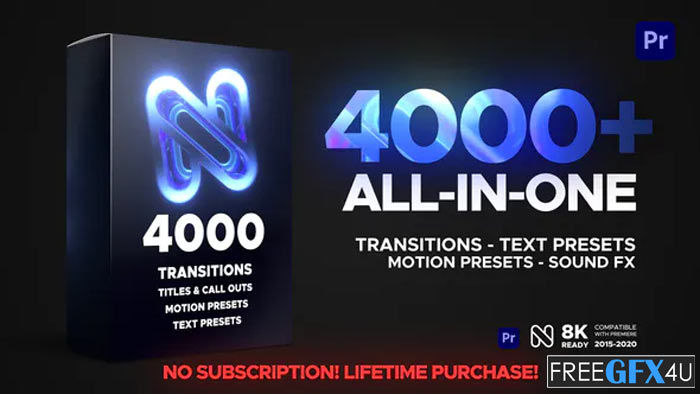 4000+ All in One Transition, Presets, Sound Fx