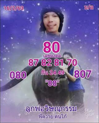 Thai Lottery Magic Tips Facebook Timeline Blogspot  16 February 2020