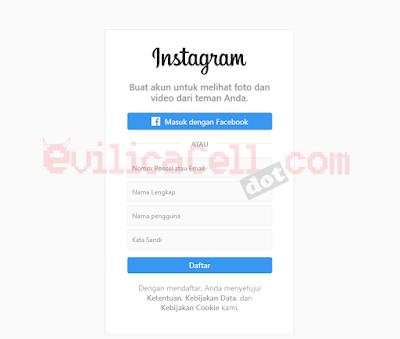 Halaman Daftar Instagram