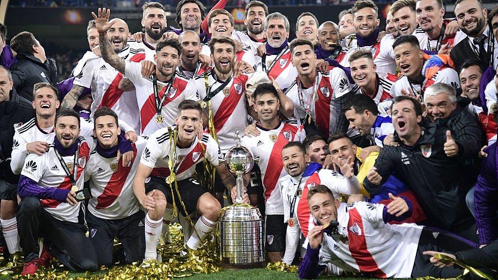 #Superclásico River se queda con la Copa Libertadores de América en el Santiago Bernabéu