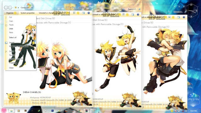 Kagamine Twins Theme Win 7 by Andrea_37
