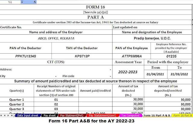 form 16 Part A&B