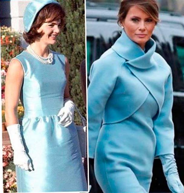 Jacqueline Kennedy e Melania Trump look azul