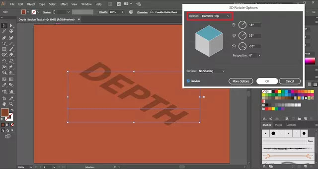 Illusion of Depth in Adobe Illustrator