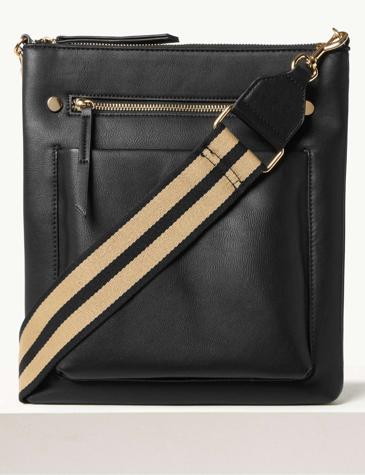 Marks and Spencer webbing strap messenger bag