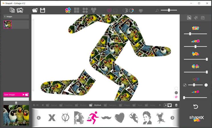 ShapeX :  H καλύτερη εφαρμογή δημιουργίας Collage  για Windows