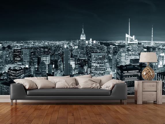 Maisematapetti mustavalkoinen New York Tapetti Kaupunki