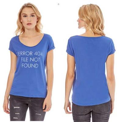 camiseta mujer de color azul