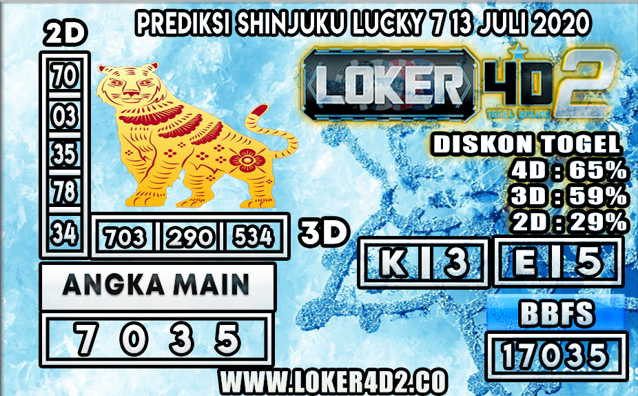 PREDIKSI TOGEL SHINJUKU LUCKY 7 LOKER4D2 13 JULI 2020