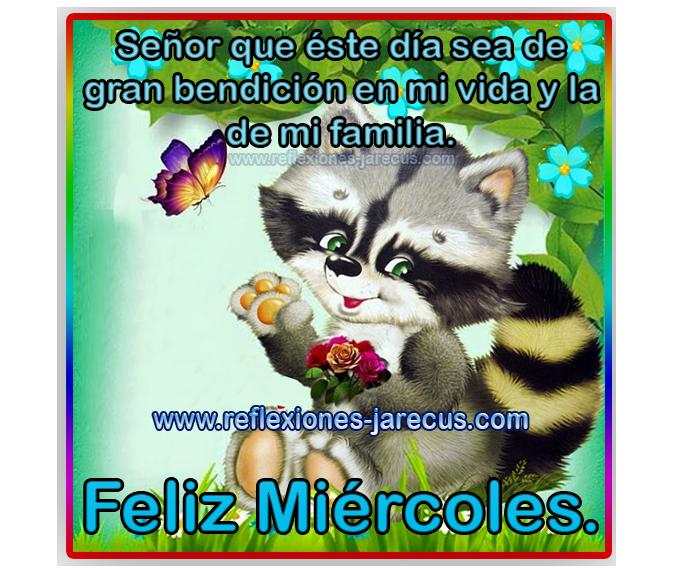 Feliz miércoles, Señor que éste día sea de gran bendición en mi vida y la de mi familia