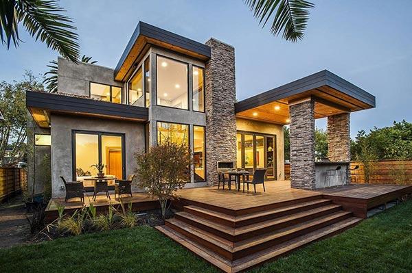Gambar desain rumah eropa modern