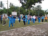 Jalin Silaturahmi, Babinsa Koramil 12/Langga Payung  Senam Bersama Dengan Muspika  Sei Kanan Dan Warga