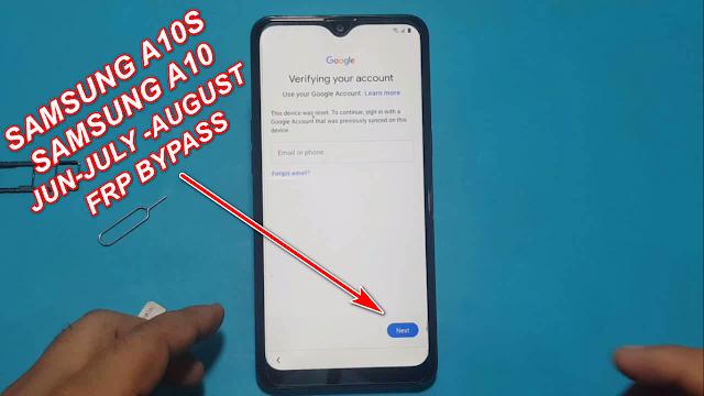Samsung A10s & A10 Bypass Google Account Frp Lock Latest Security Jun-July-August Update