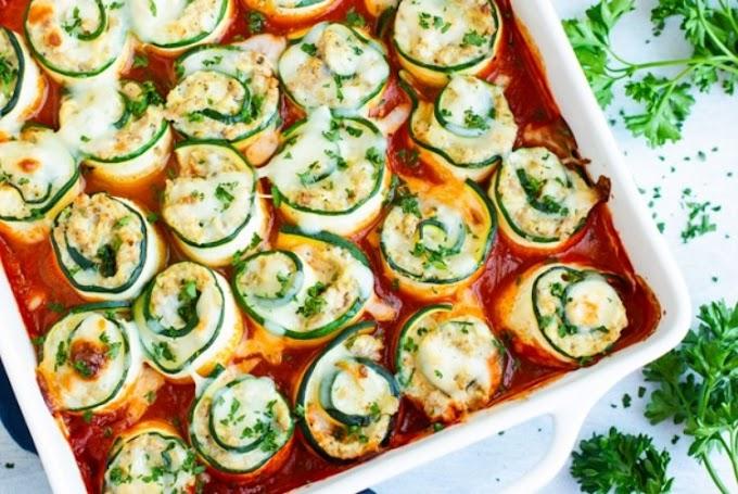 Zucchini Lasagna Roll-Ups #Keto #Low-Carb