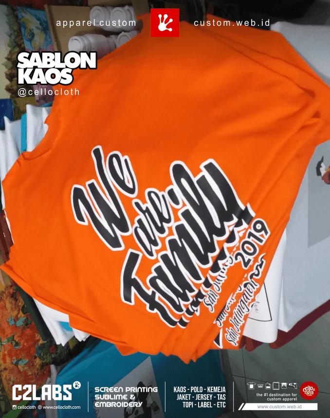 Proses Sablon Kaos Gathering Family - Kaos Sablon