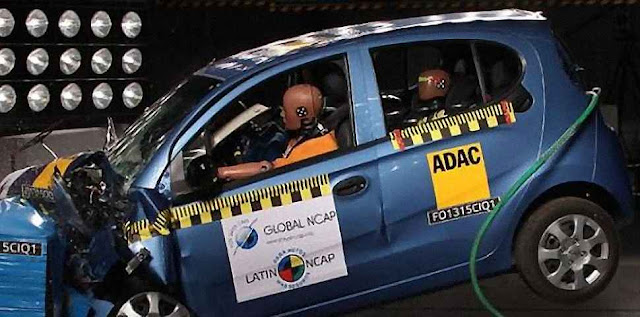 Zero estrela no crash test do Chery QQ.