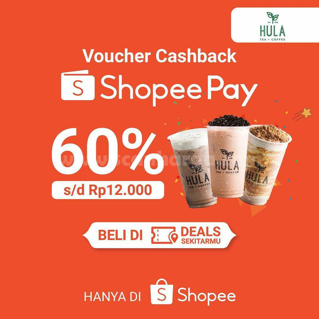 Promo HULA Voucher Cashback 60% pakai ShopeePay
