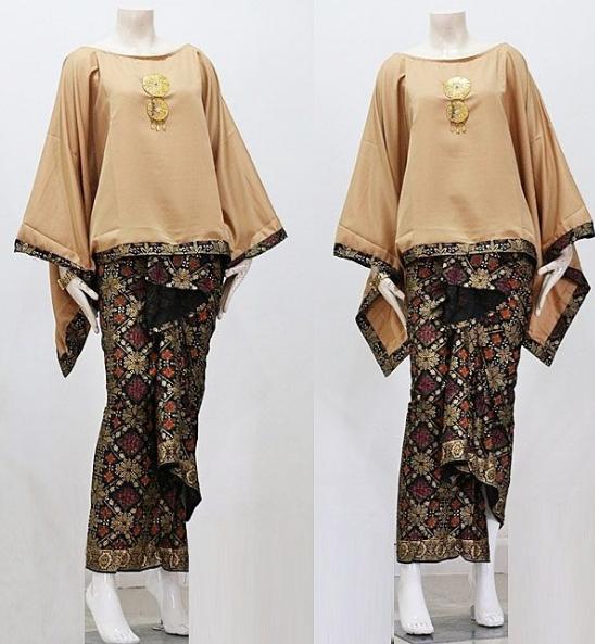 Atasan Barik Kombinasi: 80 Model Gamis Batik Kombinasi Polos Modern Muslim Remaja