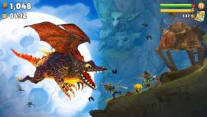 Free Download Game Hungry Dragon MOD APK Unlimited Gems 2.12