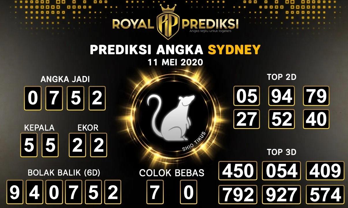 Prediksi Sydney Minggu 11 Mei 2020 - Royal Prediksi Sydney