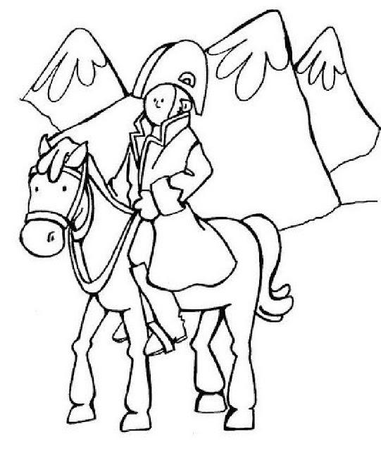 General San Martín colorear cruce de los Andes