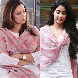 Janhvi-wears-sridevi-dress, Sridevi and daughters have strong bonding,