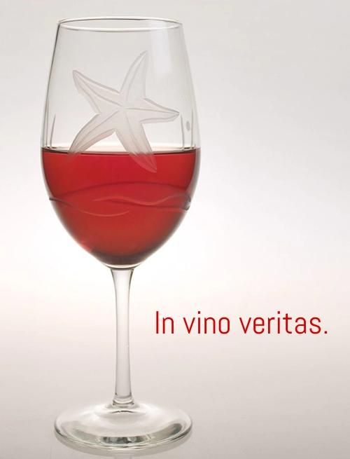 In Vino Veritas Wine Glass