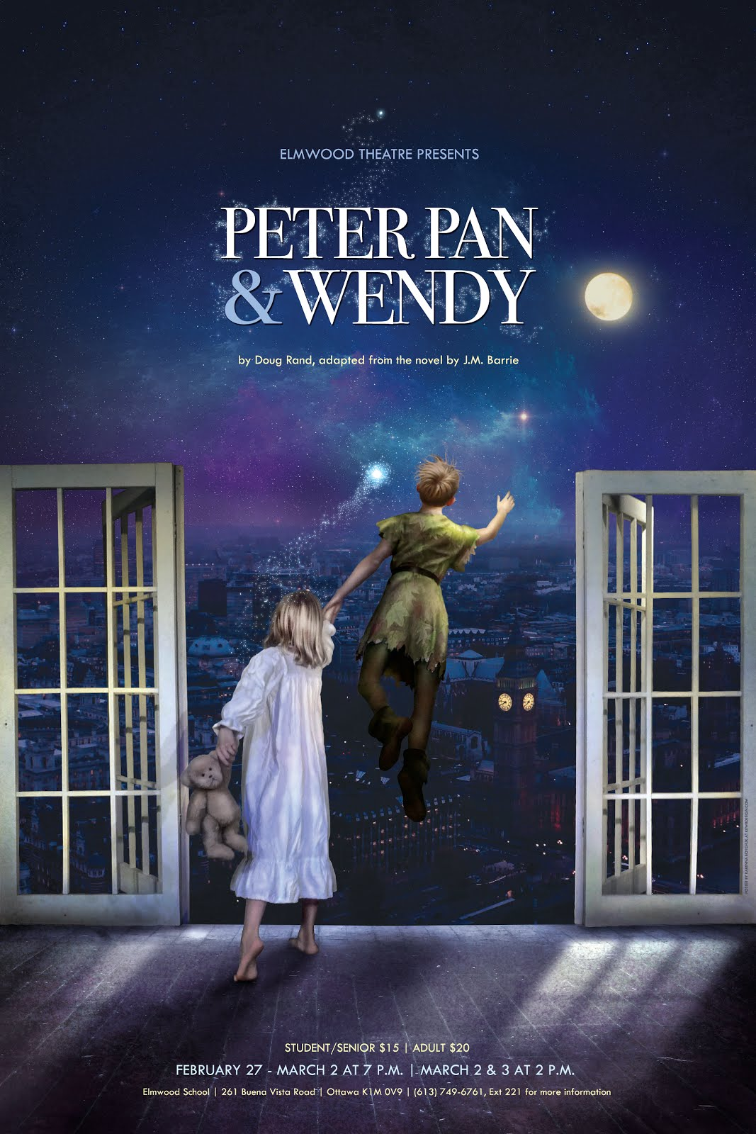 Elmwood Theatre S Peter Pan And Wendy Synopsis