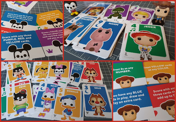 Funko Disney Something Wild! Card Games review Toy Story and Mickey collage of all the Card examples