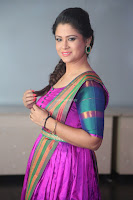 Shilpa Chakravarthy in Purple tight Ethnic Dress ~  Exclusive Celebrities Galleries 066.JPG