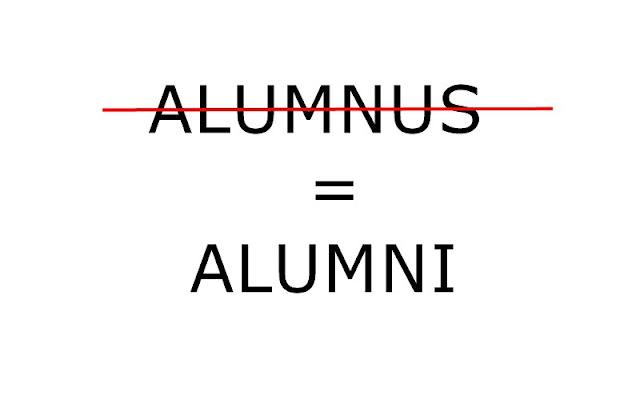 Alumnus yang benar adalah Alumni