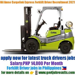 Nil Amse Cargolink Express Forklift Driver Recruitment 2021-22