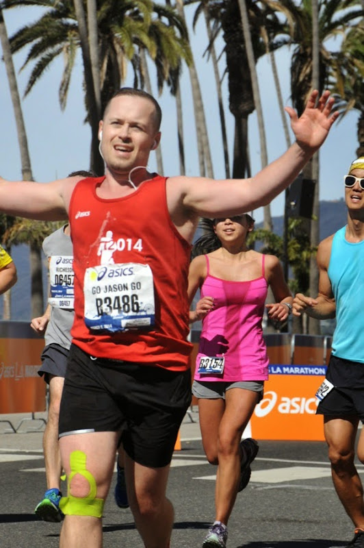 Crossing LA Marathon 2014 Finish Line